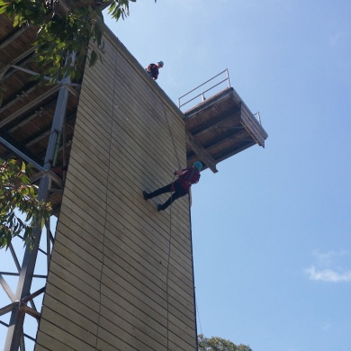 Abseiling adventure at a School Camp