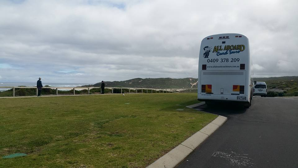 One of All On Board Coaches on tour in South West WA during one of many School Camps