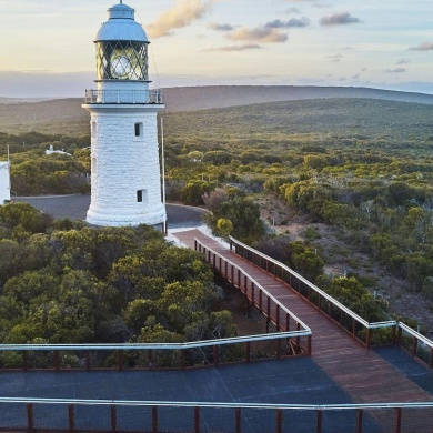 Cape Naturaliste Lighthouse visited on School Camp