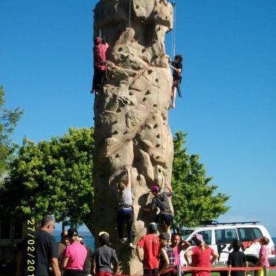 Rock Climbing on School Camp
